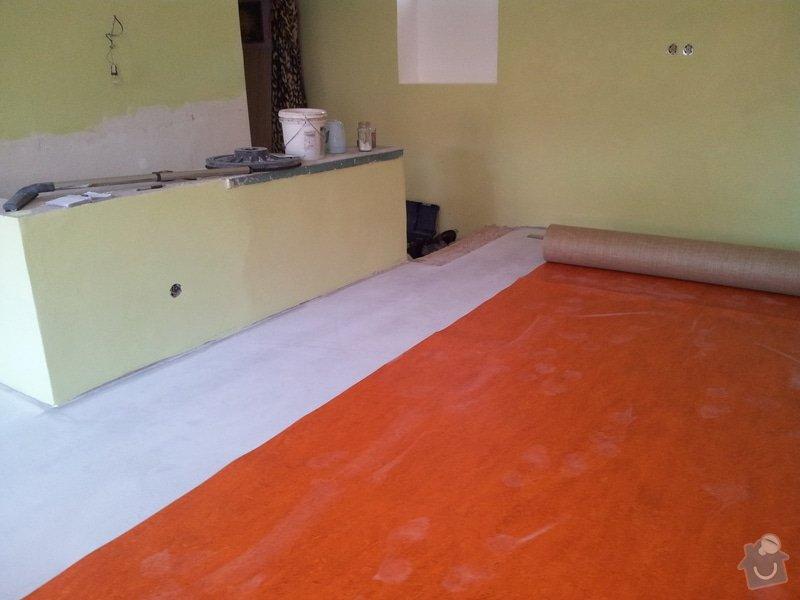 Marmoleum Home - Pokládka podlahy a obložení stěny: 20120911_104058