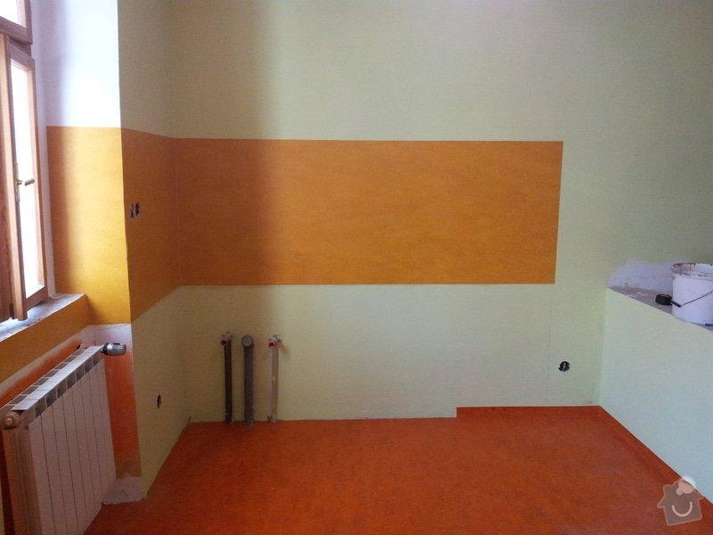 Marmoleum Home - Pokládka podlahy a obložení stěny: 20120911_180152