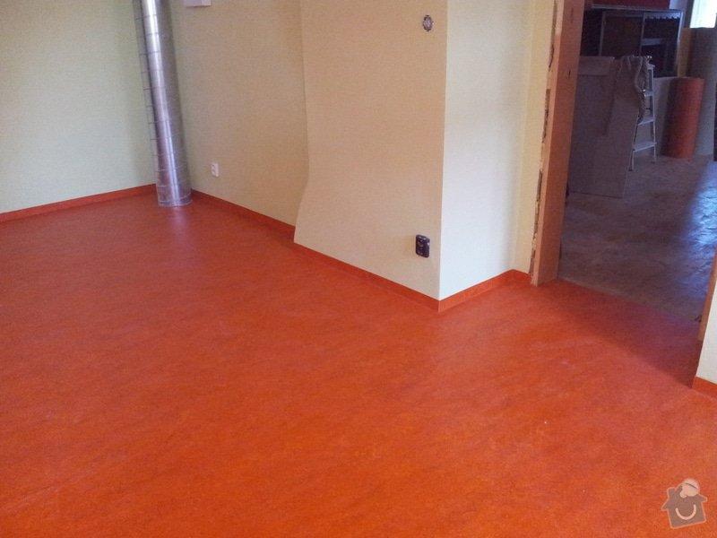 Marmoleum Home - Pokládka podlahy a obložení stěny: 20120911_180215