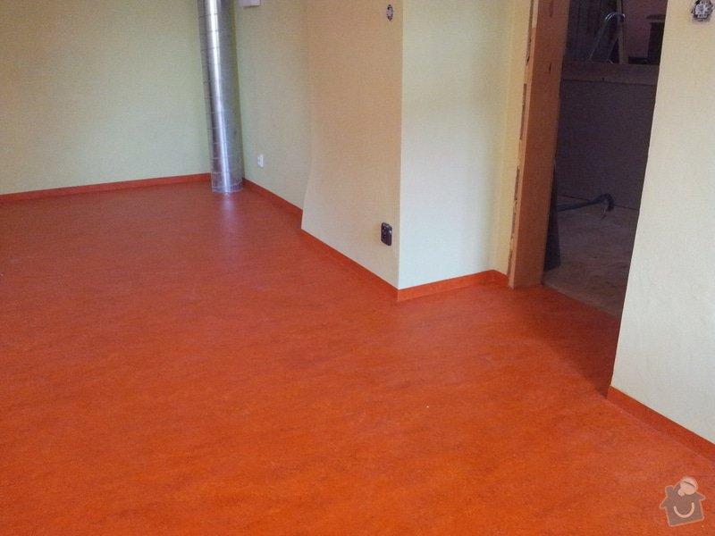 Marmoleum Home - Pokládka podlahy a obložení stěny: 20120911_180225
