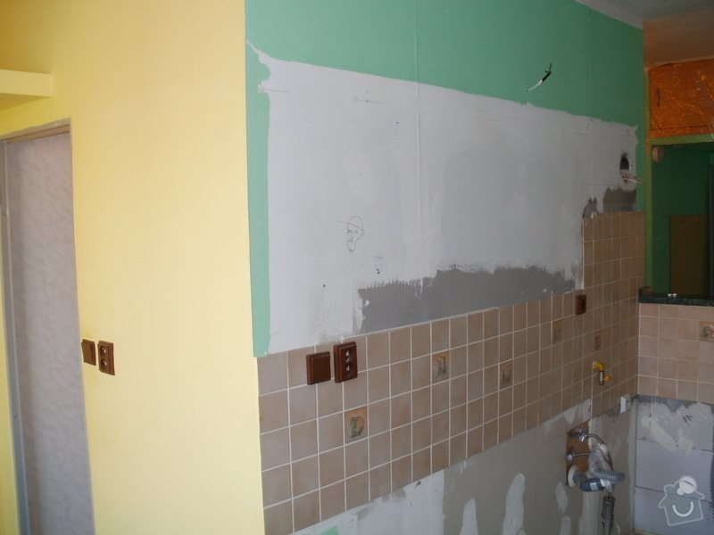 Rekonstrukce bytového jádra a stavební úpravy pro osazení kuchyňské linky: 1