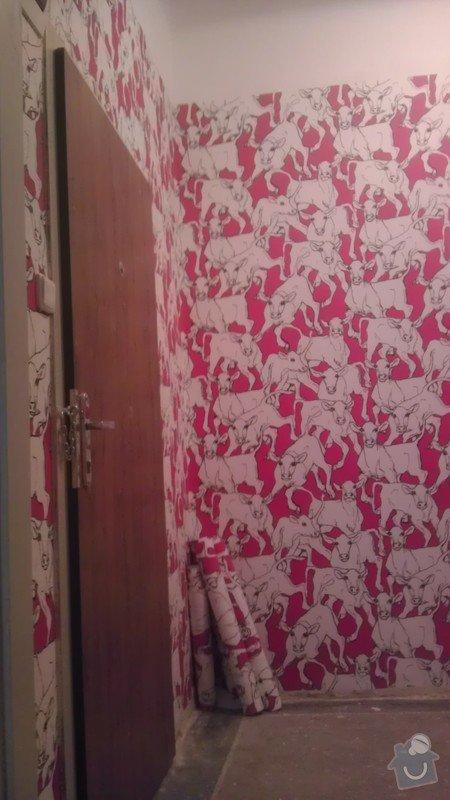 Tapetování (předsíň a jedna stěna v pokoji): IMAG0352