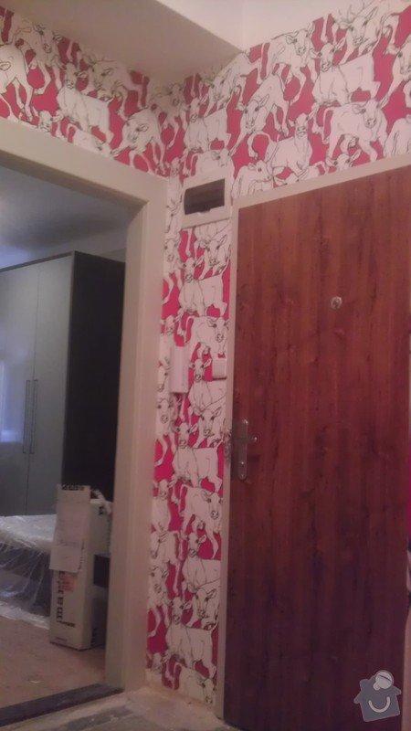 Tapetování (předsíň a jedna stěna v pokoji): IMAG0355