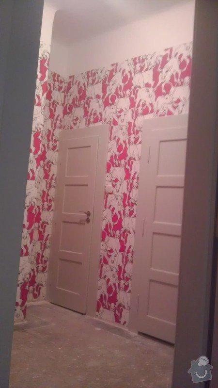 Tapetování (předsíň a jedna stěna v pokoji): IMAG0365