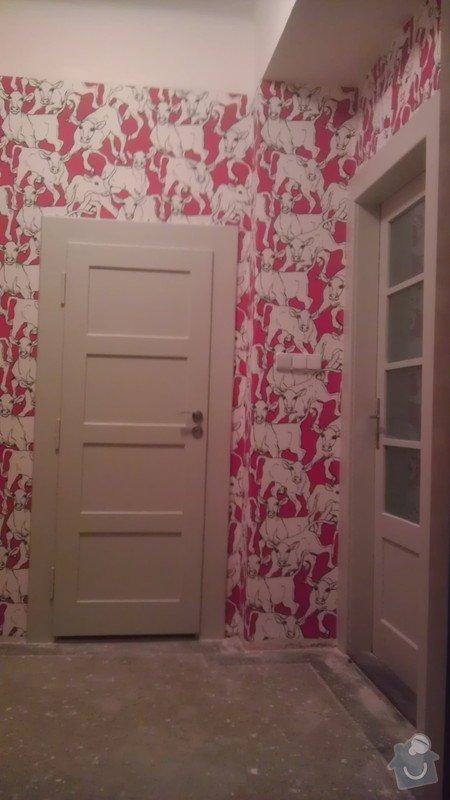 Tapetování (předsíň a jedna stěna v pokoji): IMAG0366