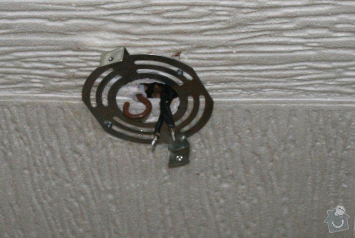 Připojení svítidel vč. přípravy, odstranění starých el. drátů v bytě: foto1