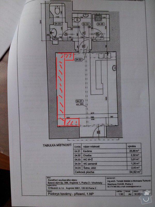 Čalounění lavice: prostor_lavice