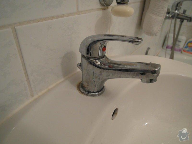 Výměna vodovodních baterií - 2x: Umyvadlo_koupelna