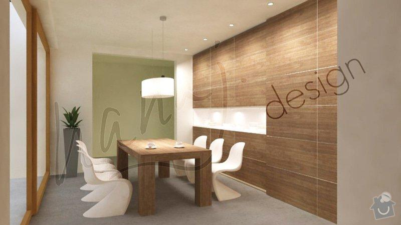 Návrh obývacího pokoje a jídelny v rodinném domě: Jidelna_B