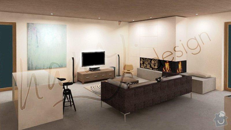 Návrh obývacího pokoje a jídelny v rodinném domě: Obyvak