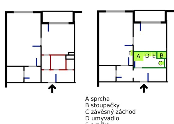 Rekonstrukce bytového jádra v paneláku