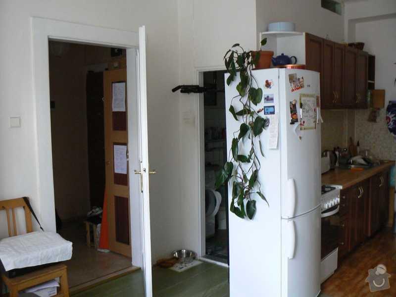 Rekonstrukce kuchyně a koupelny/WC včetně sjednocení podlah: 2.pohled_od_okna_ke_dverim_do_predsine