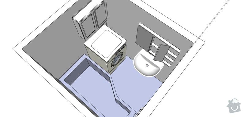 Rekonstrukce koupelny a wc: Koupelna