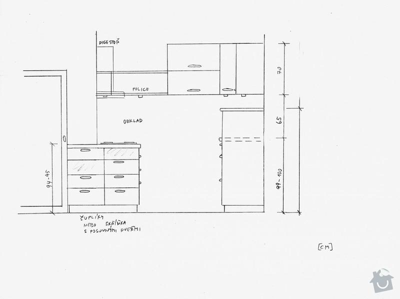 Rekonstrukce kuchyně a předsíně: pohled_1