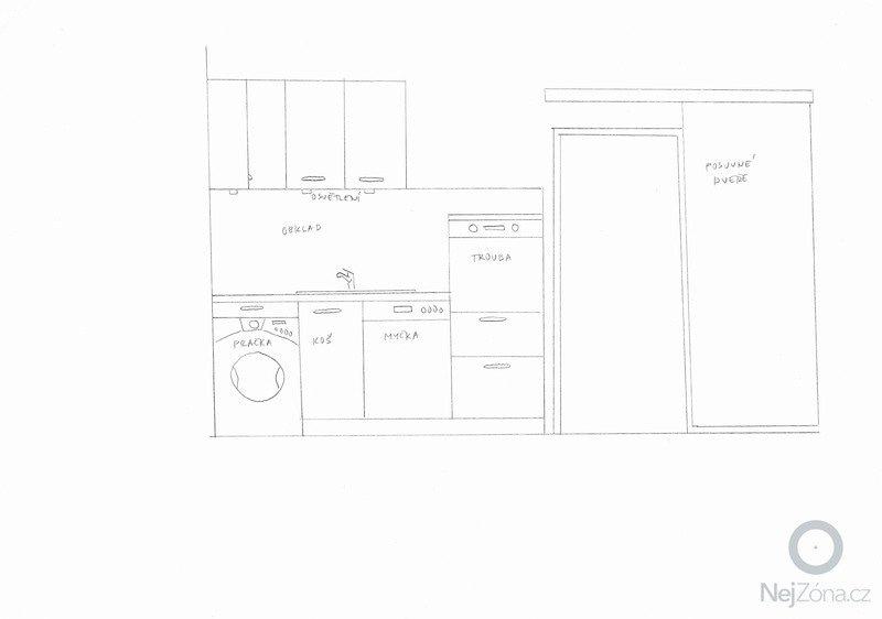 Rekonstrukce kuchyně a předsíně: pohled2