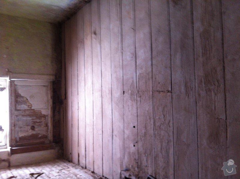 Pomocné práce při bytové rekonstrukci.: Podbiti