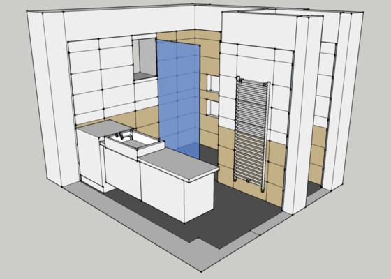 Obklady, dlažba - koupelna+záchod v rodinném domě