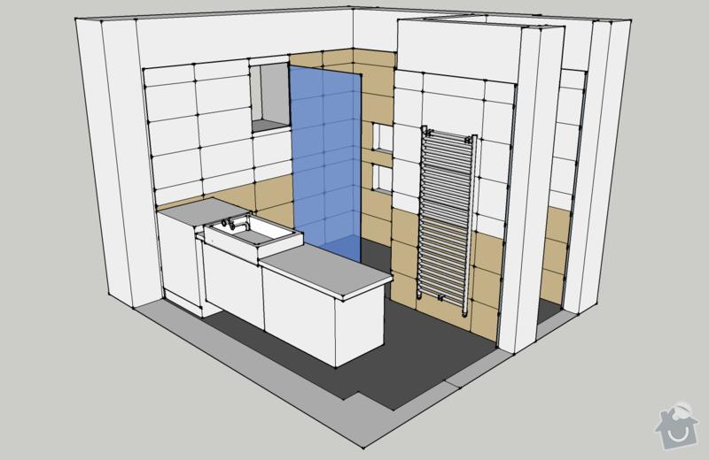 Obklady, dlažba - koupelna+záchod v rodinném domě: koupelna_pohled_ISO