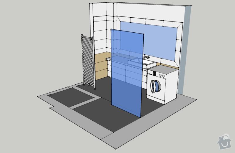 Obklady, dlažba - koupelna+záchod v rodinném domě: koupelna_pohled_ISO2