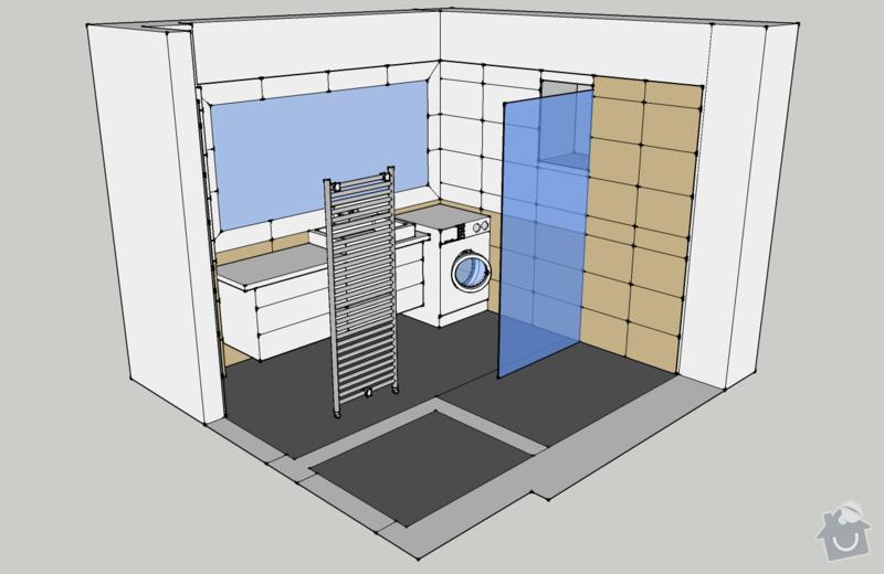 Obklady, dlažba - koupelna+záchod v rodinném domě: koupelna_pohled_ISO3