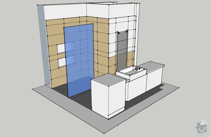 Obklady, dlažba - koupelna+záchod v rodinném domě: koupelna_pohled_ISO4