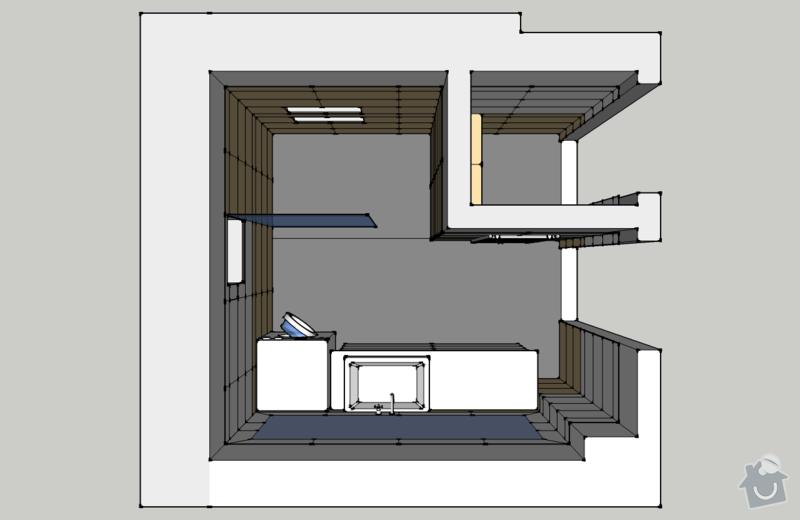 Obklady, dlažba - koupelna+záchod v rodinném domě: koupelna_pohled_TOP