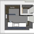 Obklady dlazba koupelna zachod v rodinnem dome koupelna pohled top