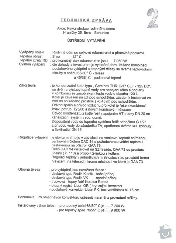 Ustredni topeni podlahove/radiatory: TS1