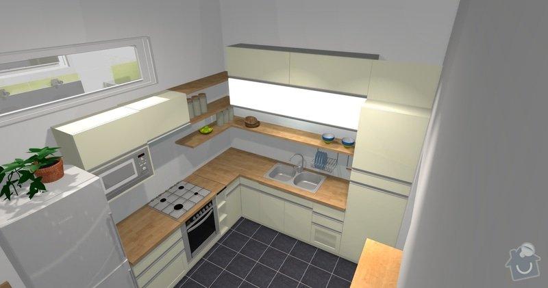 Rekonstrukce bytu 3 + KK na ul. Vídeňská: R1_Kuchyn_3