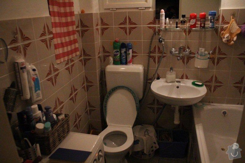 Rekonstrukce koupelny: koupelna