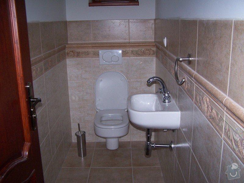 Rekonstrukce koupelny, rekonstrukce WC, rekonstrukce schodiště: 100_4697
