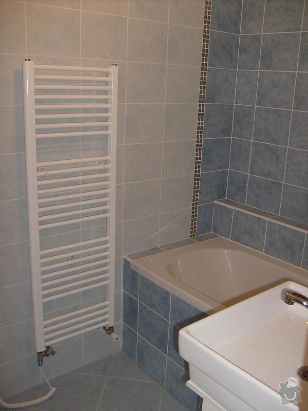 Rekonstrukce topení v rodinném domku: koupelna_-_zebrik