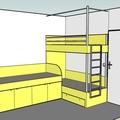 Truhlarske prace postele pokojik 12 navrh a