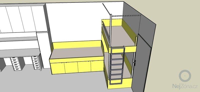 Truhlářské práce - postele: Pokojik_12_navrh_C
