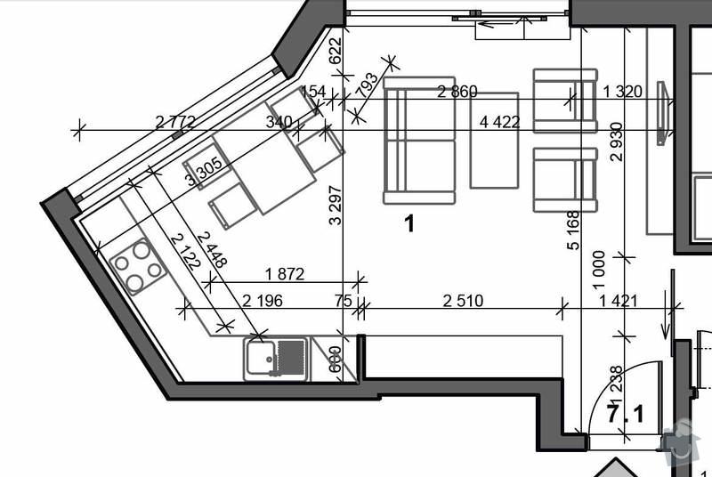Sádrokartonový strop: obyvak