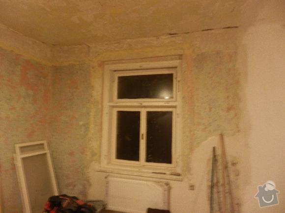 Renovace omítek a stropu 1 pokoj: foto_prace