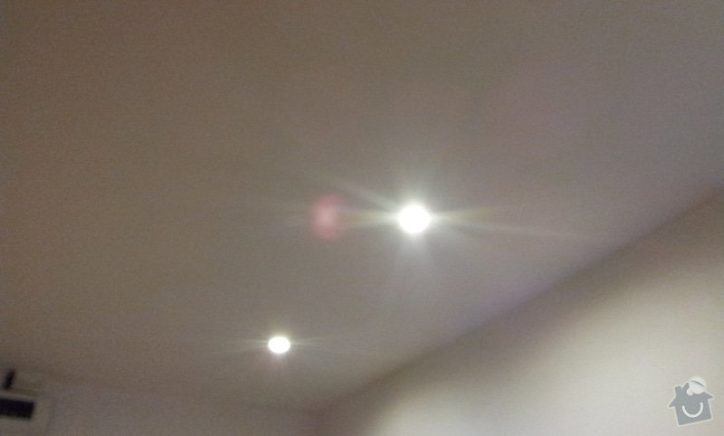Montáž podhledu s bodovým osvětlením: 20121003_165602