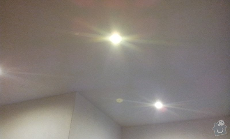Montáž podhledu s bodovým osvětlením: 20121003_165610