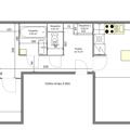 Rekonstrukce paneloveho bytu 3 kk dispozice navrh