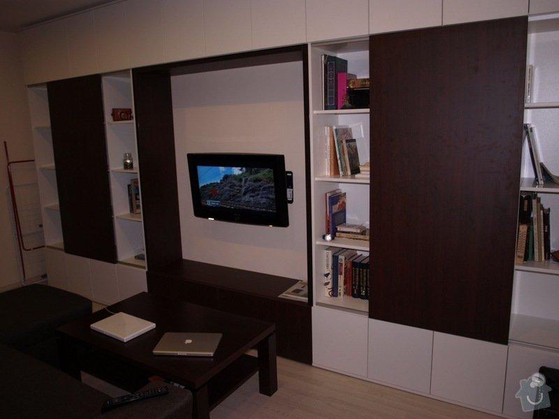 Výroba a montáž obývací stěny: obyvak3