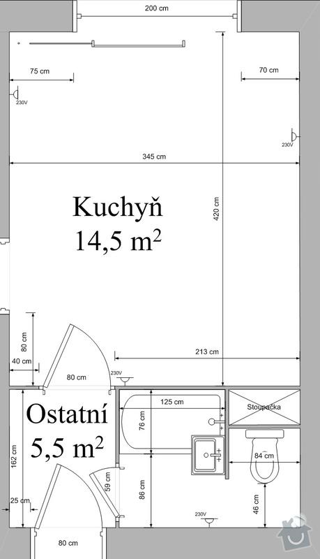 Rekonstrukce bytového jádra: Vykres_bytu_pred_rekonstrukci