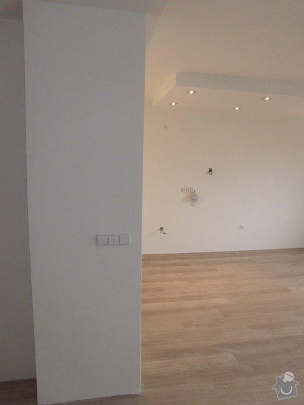 1. Elektroinstalace: kuchyně a obýv. pokoj v novostavbě bytu + 2. Sádrokartony kuchyňský kout: IMG_0794