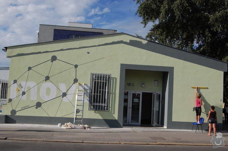Malování fasády dle grafického návrhu - Inkubátor ČVUT: DSC_0142
