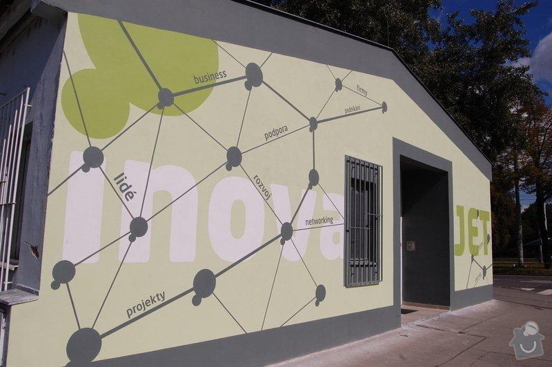 Malování fasády dle grafického návrhu - Inkubátor ČVUT: DSC_0241