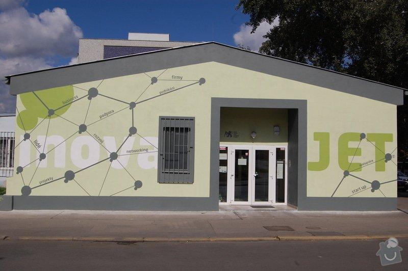 Malování fasády dle grafického návrhu - Inkubátor ČVUT: DSC_0234