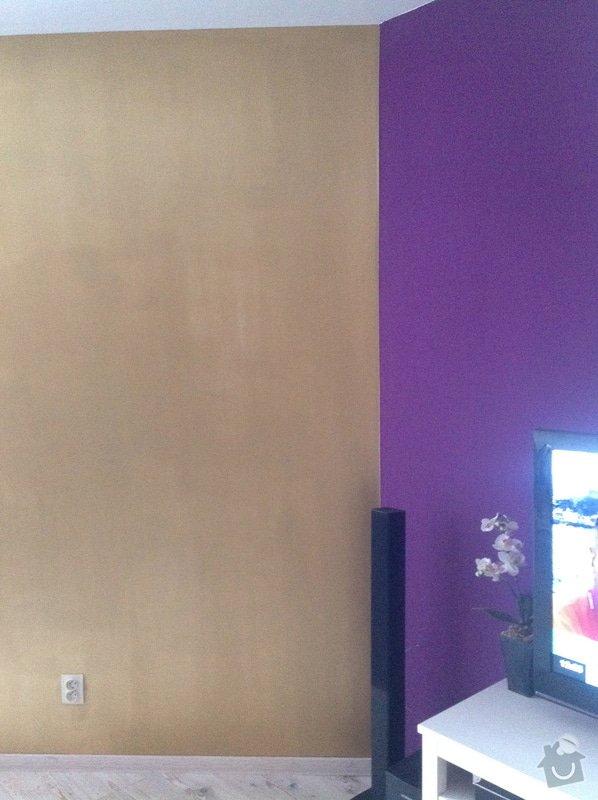 Tapetování (1 stěna), sádrokartonový kryt na rouru od digestoře, výmalba (1 stěna): IMG_0105