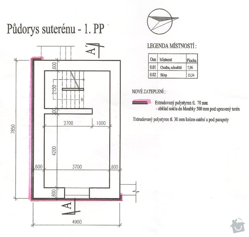 Rekonstrukce/úpravy RD: 1pp