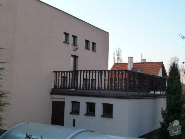Zastřešení terasy, vyzdění obvodových soklů u terasy a 2 balkónů: P1030896