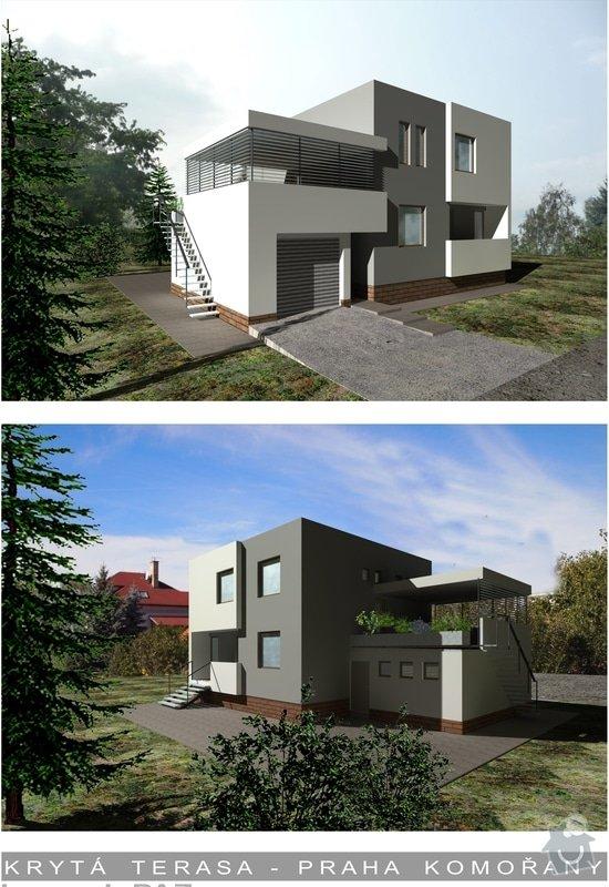 Zastřešení terasy, vyzdění obvodových soklů u terasy a 2 balkónů: alt1_a-1