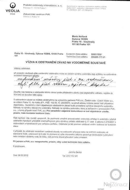 Vymena vodomerne sestavy pro vodomer DN 20: Voda_0002